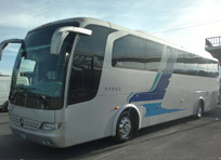Autobus Mercedes Benz Multego Renta para turismo, tours y excursiones.Rent Bus for tourism in Mexico City, Excursions, Private tours with Driver